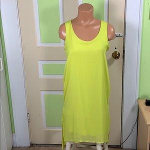 Philosophy neon yellow dress Hi-low hem Small